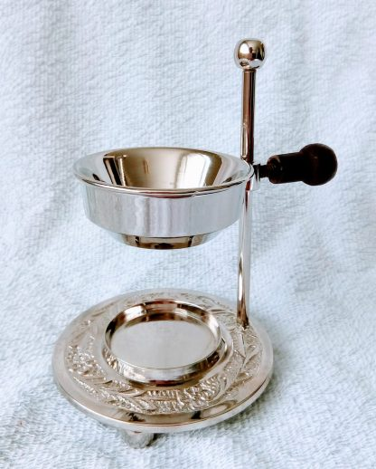 silver essential oil burner