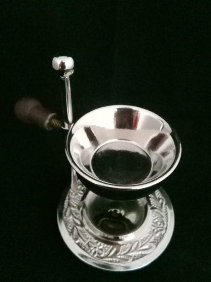 silver oil burner