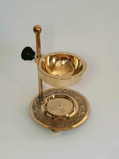 round bowl brass burner
